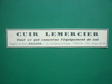 5/38 PUB LEMERCIER VETEMENT CUIR EQUIPEMENT DE VOL PILOTE RUE BOISSY D'ANGLAS AD