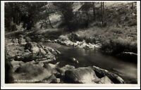 Schwarzatal alte AK ~1930/40 Partie im Schwarzatal Schwarza Bachlauf River Falls