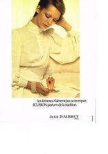 PUBLICITE ADVERTISING  1972   JEAN D'ALBRET   parfum ECUSSON