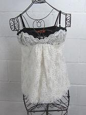 NWT - Cynthia Steffe White w/ Black Lace Camisole Cami Top Size 10 $248