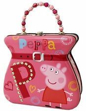 Cutesy Pie Original Red Peppa Pig Carry All Tin Purse and Lunchbox SN