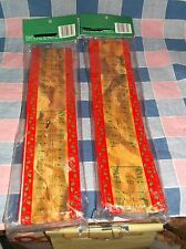 """Two Nos Christmas Garland Melodies of Christmas Each About 90"""" x 2 1/2"""""""