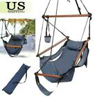 New Deluxe Hammock Hanging Patio Tree Sky Swing Chair Outdoor Porch Lounge W/Bag