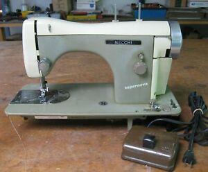 older Necchi BF Supernova Italian sewing machine w/ controller, two speed