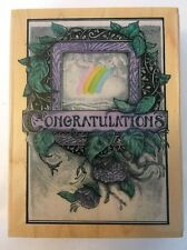 """Stamping Ovation 30012K Congrats """"CONGRATULATIONS"""" Rubber Stamp 1997 RARE!"""