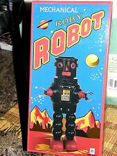 """Tin Roby Robot {{ mechanical Robot }} 9 """" inches"""
