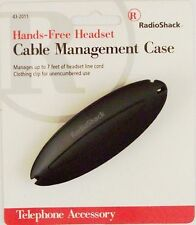 Id# 21 - Hands-Free Headset Cable/Cord Management Clip ~ RadioShack 430-2011