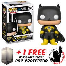 Funko Pop Dc Batman Yellow Lantern Batman Glow Exclusive + Free Pop Protector