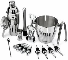 PREMIUM Bartender Set 16 Pieces Bar Tools Cocktail Mixer Drink Shaker Mixing Kit