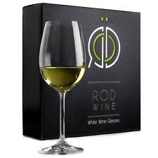 ROD Wine Titanium Lead Free Crystal White Wine Glasses Set of 3 12 Oz Giftbox