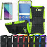 For Samsung Galaxy J3 Emerge / J3 2017 Hybrid Hard Armor Case Rubber Stand Cover