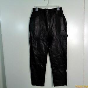 VENEZIA LEATHER Pants Womens Size H2 2X Black stretch