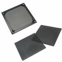 2 Pcs 140x140mm Black PVC Dust Dirt Filter PC Computer Fan Dustproof Guard Mesh