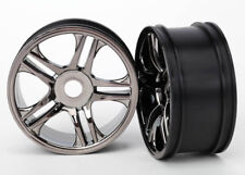 NEW Traxxas 6478 Wheels Split Spoke Black Chrome Front XO-1 (2) *SHIPS FREE*