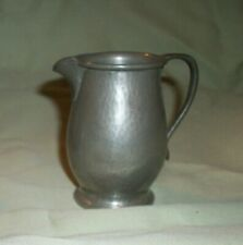 Antique Liberty Co. English Pewter Creamer Pitcher Hammered H 01384