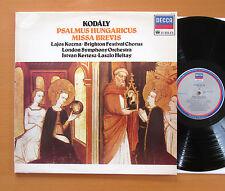 JB 122 Kodaly Psalmus Hungaricus Missa Brevis Kertesz LSO Decca Jubilee NM/EX