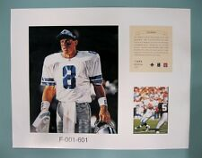 Troy Aikman Dallas Cowboys 1996 NFL Football 11x14 Lithograph Print (scare)