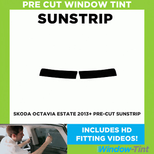 Pre Cut Sunstrip - Skoda Octavia Estate 2013 Window Tint