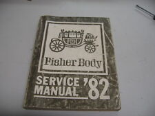 1982 GM Fisher Body Service Manual B C D E G ank K body styles Chevrolet Impala
