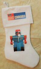 Robot Commando White Christmas Stocking Vintage Ideal Toy