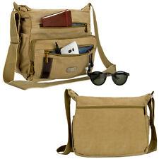 "Brown Laptop Canvas Messenger Shoulder Bag For 13.5"" Microsoft Surface Laptop 3"
