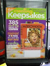 CREATING KEEPSAKES MAGAZINE SCRAPBOOKING OCTOBER 2008 385 IDEAS LAYOUT HALLOWEEN