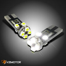 2pc T10 8 SMD Canbus LED Sidemarker Light Bulb White 2825 2827 168 194 W5W