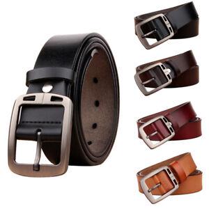 Men Cowhide Genuine Leather Belt Classical Dress Casual Jean Belt Waistband NEW