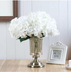 Artificial Silk 5 Head Flower Bridal Bouquet Hydrangea Wedding Decor UK