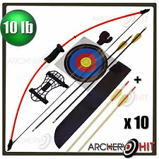 "Bonus Arrow Pack Kids 36"" Junior Long Bow and Arrow Recurve Archery Set"