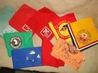 VINTAGE 1960'S ERA BSA GROUP OF 9 KERCHIEFS JAMBOREES, PHILMONT, SHIKELLAMY ETC