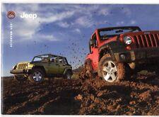 Jeep Wrangler 2007 UK Market Sales Brochure Sport Sahara Rubicon 2.8 CRD 3.8 V6