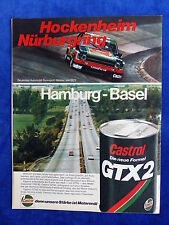 Ford & Castrol GTX 2 Öl - Werbeanzeige Reklame Advertisement 1977 __ (135