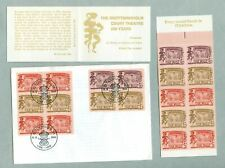 Sweden. Fdc + Booklet English.Mnh.1966. Dronningholm Court Theatre. Cz. Slania