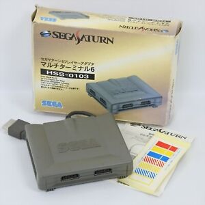 Sega Saturn MULTI TERMINAL 6 Player Adapter HSS-0103 Boxed Official 2292 ss
