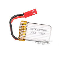 3.7v 300 mAh rechargeable Lipo Battery JST-Plug For RC Drone Helicopter  802030