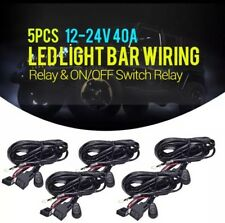 AUXBEAM 5PCS 40A 12V Relay, ON/OFF Switch Wiring Harness Kit For LED Light Bar