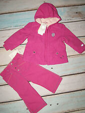 Mexx BNWT Baby Girls Hooded Jacket & Trousers Outfit Set Size 6-9 Months EU 74cm