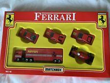 Matchbox MC-18 Ferrari Set; F40, Testarossa, 308GTS & Truck