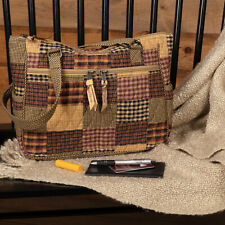 VHC Primitive Tote Heritage Everyday Handbags Red Cotton Patchwork