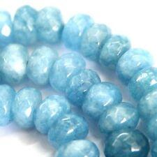 "5X8MM Natural Suave Azul Aguamarina Rondelle Gemas suelta granos 15/"" Strand AAA"