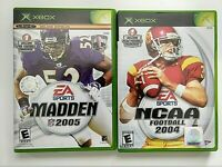 Lot of 2 XBOX Sports Games-Madden 2005 Complete,NCAA Football 2004 no Manual