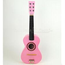 Childrens Wooden Acoustic Guitar Kids Gift 6 String Kids Music Toys White Guitar