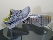 Nike Free Run 2 Shield Womens Size 7 Reflective Silver / Yellow Running Shoes