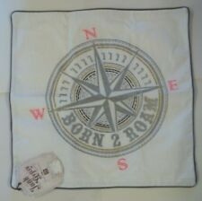 "Pottery Barn Teen Junk Gypsy Born to Roam Compass Pillow Cover 18"" #247"