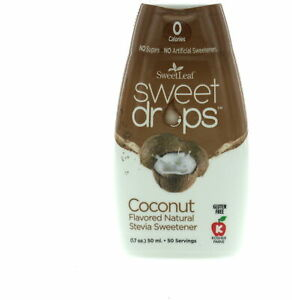 Sweet Drops Liquid Stevia by SweetLeaf, 2 oz Hazelnut 1 pack