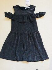 Brand New Girls Black Multi Sparkle Cold Shoulder Dress Age 6-7 years from M&S