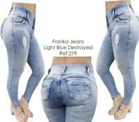 Original Levanta Cola Franka jeans push up 279 fade blue stretch skinny jeans