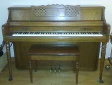 Wurlitzer Upright Oak Custom Console Model 2725 Mediterranean Piano