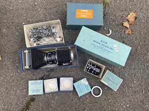 B.P.M. BPM Vintage Universal Bellows Unit Nikon Leica & Pentax Adaptors Boxed VG